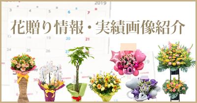 花贈り情報・画像実績記事